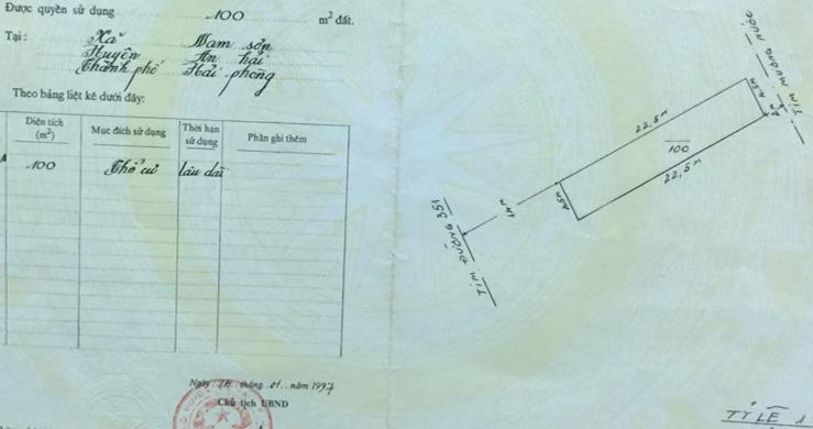 Chính chủ cần bán gấp lô đất mặt đường 351 Nam Sơn, An Dương, Hải Phòng.