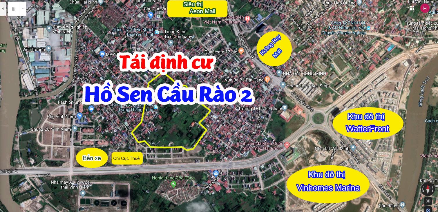Chuyển nhượng lô đất TĐC Hồ Sen Cầu Rào 2, Vĩnh Niệm, Lê Chân, Hải Phòng