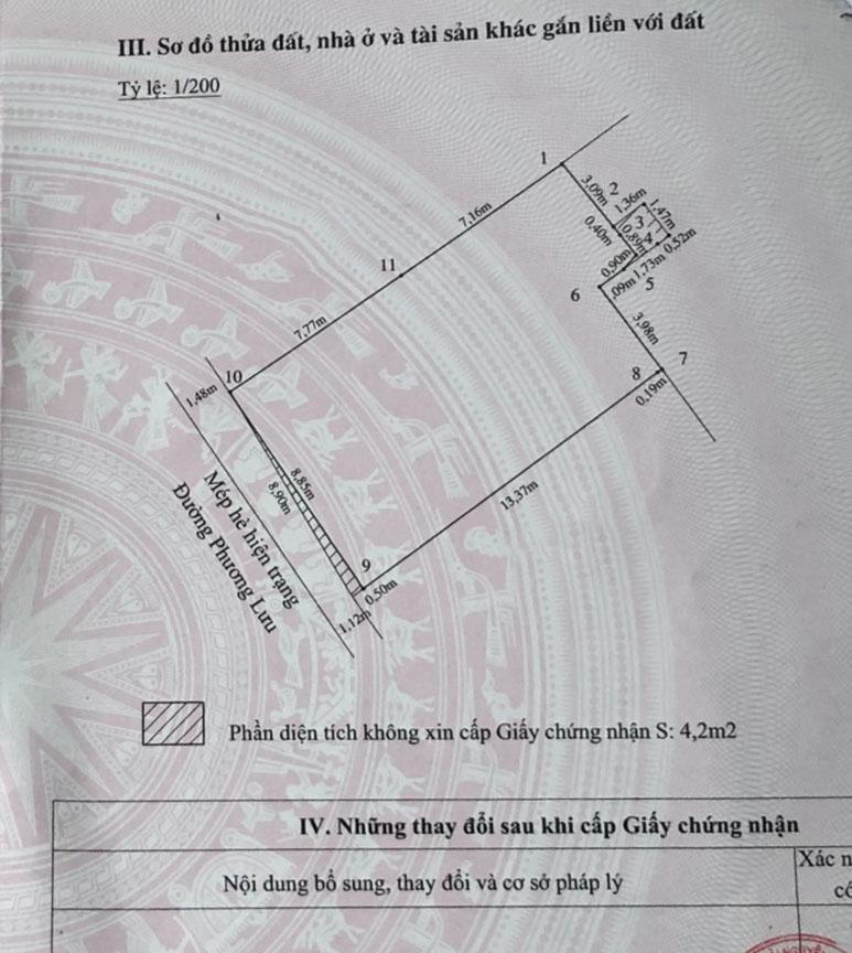 Bán gấp lô đất mặt đường Phương Lưu, Vạn Mỹ, Ngô Quyền, Hải Phòng