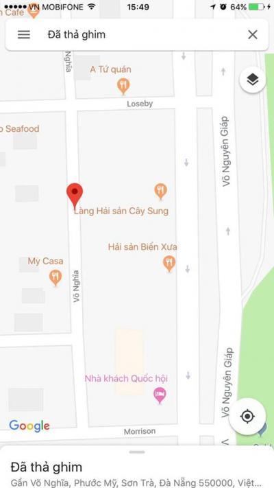Bán đất Mặt Tiền Võ Nghĩa sát Võ Nguyên Giáp - Đà Nẵng