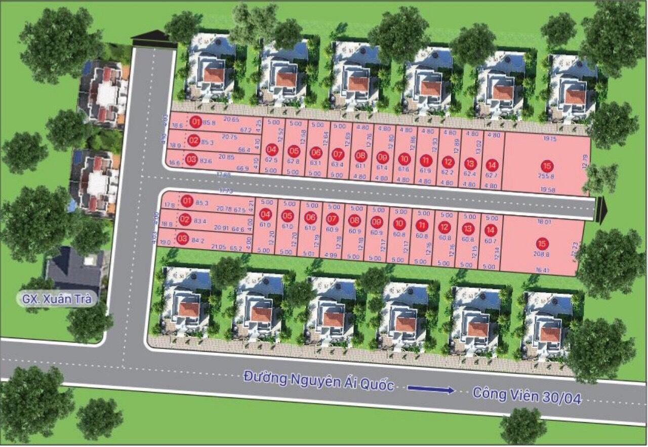 khu dân cư phúc thịnh CENTER thổ cư sổ hồng riêng LH 0901-610-613