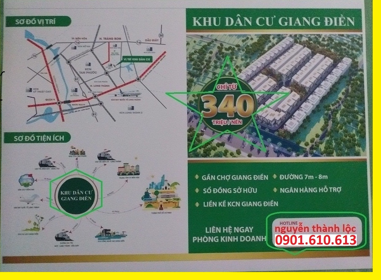 bán đất nền an viễn gần kcn giang điền vị trí đẹp đầu tư tốt giá F0