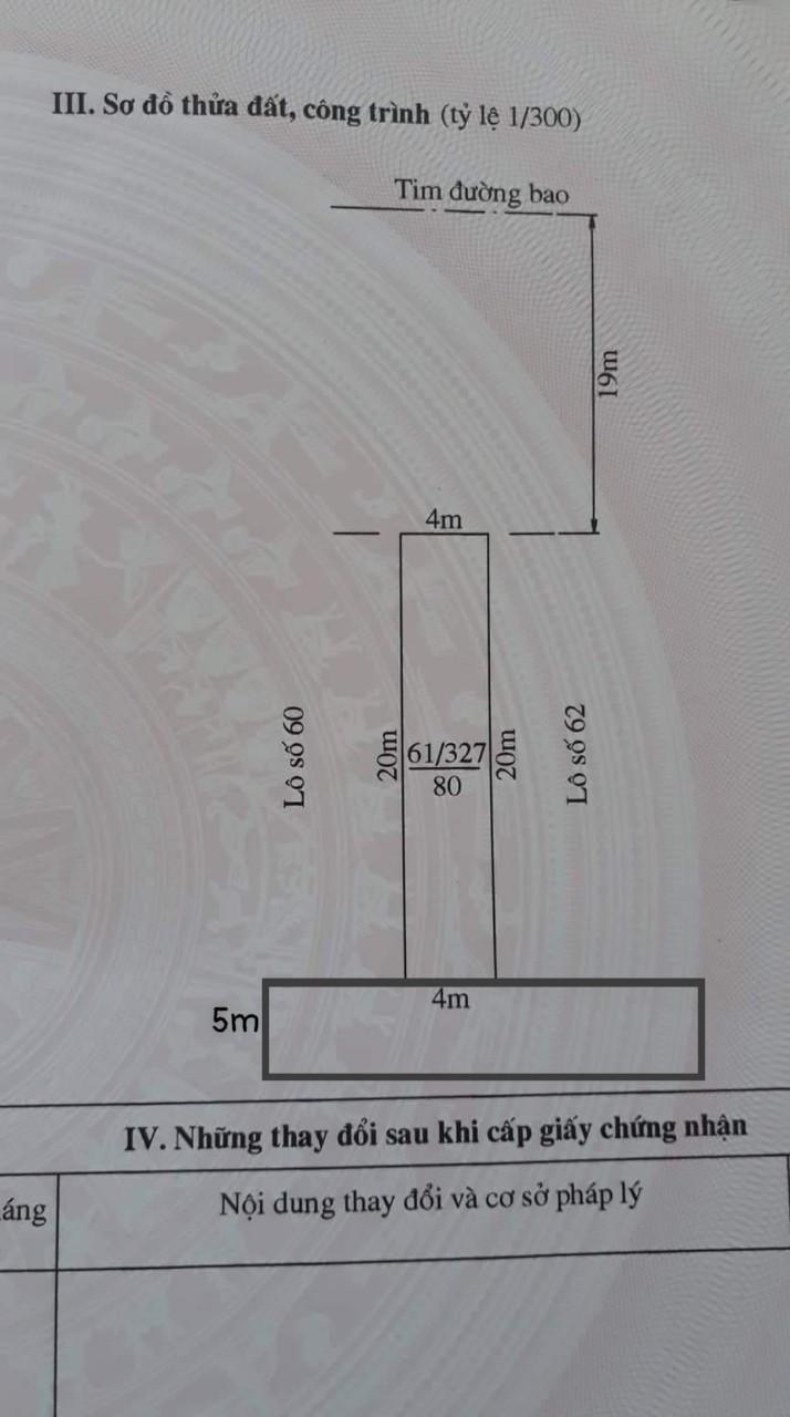 Chuyển nhượng lô đất 2 mặt tiền mặt đường Nguyễn Bỉnh Khiêm, Đông Hải 2, Hải An, Hải Phòng.